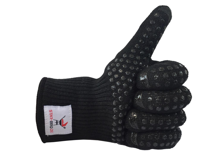 grillhandschuhe kochhandschuhe hitzebest ndig von star bbq in schwarz ebay. Black Bedroom Furniture Sets. Home Design Ideas