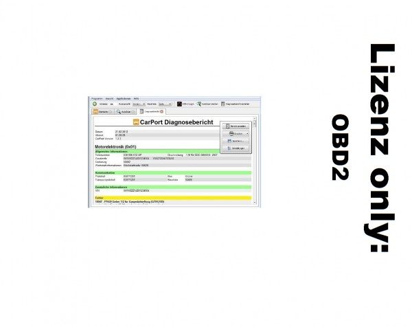 Carport Lizenz Basis OBD2